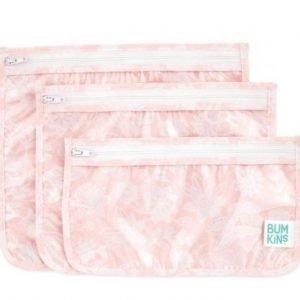 BUMKINS pack 3 bolsas transparentes para niños Lace