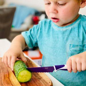 KIDDIKUTTER cuchillo autonomía niños Violeta