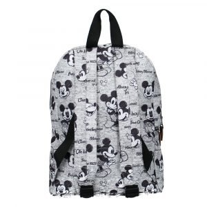 DISNEY mochila Mickey Mouse Never Out of Style Grey