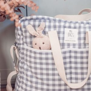 MY BAG'S bolsa maternidad Vichy Gris