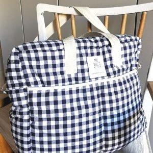 MY BAG'S bolsa maternidad Vichy Azul