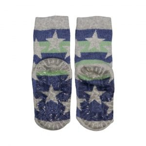 STERNTALER calcetín antideslizante Raya Estrella Gris