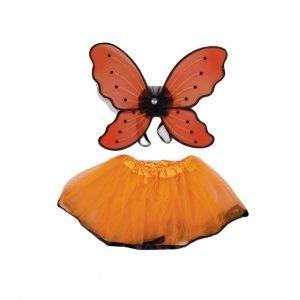SUIT BEIBI disfraz Mariposa 2 piezas Naranja