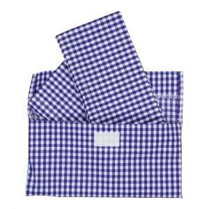 SUIT BEIBI 2 servilletas + funda Vichy Azul