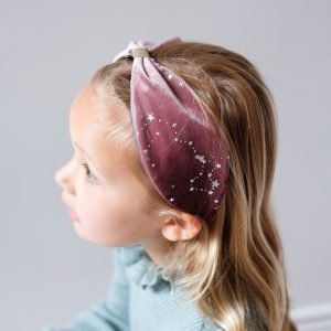 MIMI AND LULA diadema Magical Wide Velvet Pink