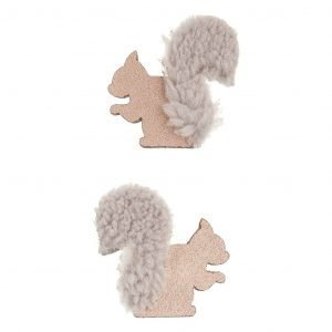 MIMI AND LULA 2 clips Squirrel Friends Nordic