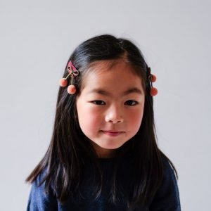 MIMI AND LULA 2 clips Pom Pom Cherries Autumn Garden