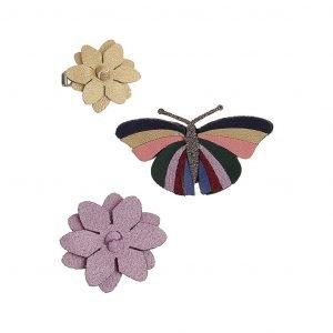 MIMI AND LULA 3 clips Butterfly Autumn Garden
