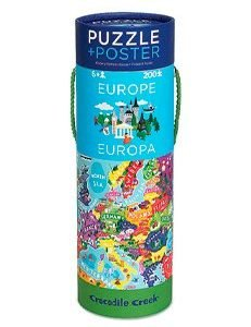 CROCODILE CREEK 200PC poster+puzzle europe