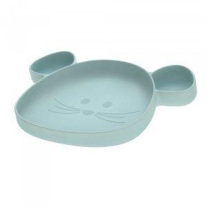 LASSIG plato silicona raton azul