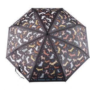 FLOSS AND ROCK paraguas plegable gatos y perros