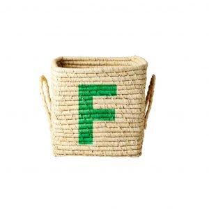 RICE raffia basket F