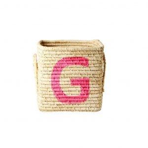 RICE raffia basket G