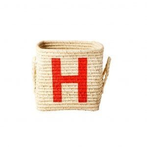 RICE raffia basket H