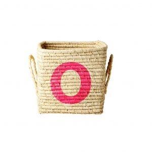 RICE raffia basket O