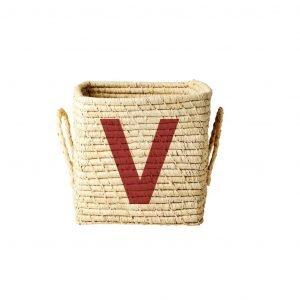 RICE raffia basket V