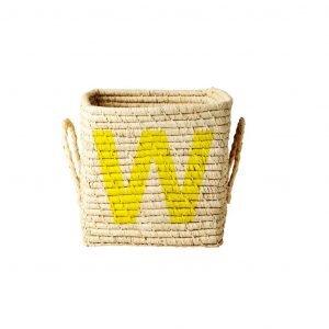 RICE raffia basket W