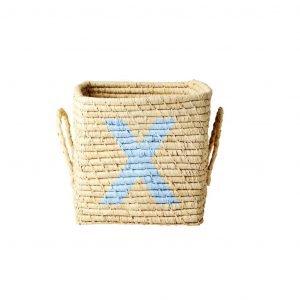RICE raffia basket X