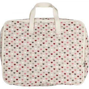 SUIT BEIBI maleta algodón corazones
