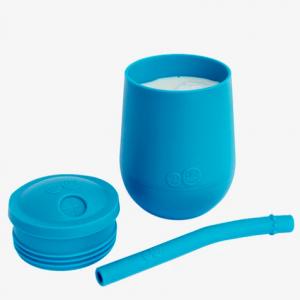 EZPZ mini cup tapa+pajita azul