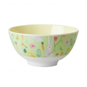 RICE bowl easter print green