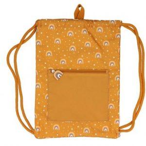 TUTETE mochila saco impermeable para niños Arcoiris Mostaza