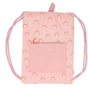 TUTETE mochila saco impermeable para niños Arcoiris Rosa