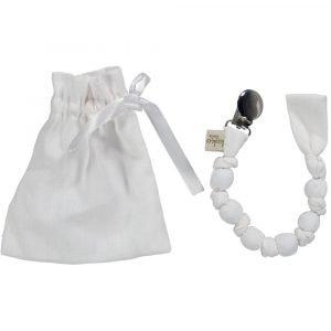 KOKOLALA chupetero lino Blanco