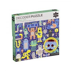 PETIT COLLAGE puzzle 100p con decodificador monster