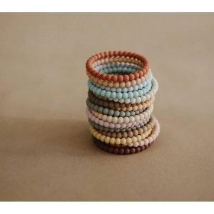 MUSHIE 3 brazaletes mordedor Pearl Linen/Peony/Pale Pink
