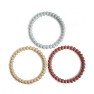 MUSHIE 3 brazaletes mordedor Pearl Mellow/Terracota/Periwinkle