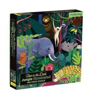 MUDPUPPY 500PZ puzzle brilla en la oscuridad selva