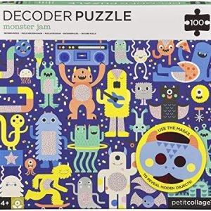 PETIT COLLAGE puzzle para niños100p con decodificador monster