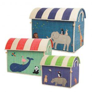 RICE cestas decorativas de almacenaje Animales