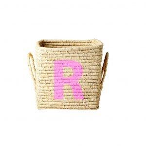 RICE raffia basket R