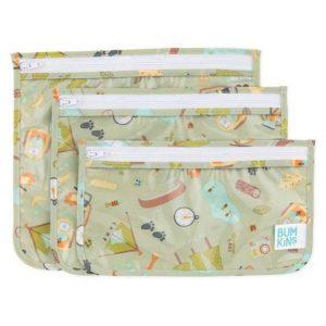 BUMKINS pack 3 bolsas transparentes para niños Campers