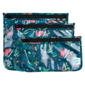 BUMKINS pack 3 bolsas transparentes para niños Jungle