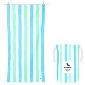 DOCK & BAY toalla summer azul verde L