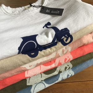 BI SUIT camiseta manga corta Vespa Rosa