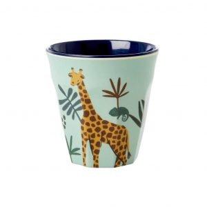 RICE vaso pequeño Blue Jungle Animal