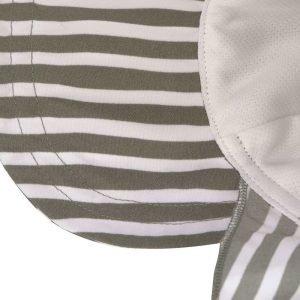 LASSIG gorrito para niños stripes olive 3-6M