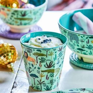RICE vaso print Jungle Animals Green