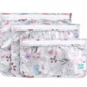 BUMKINS pack 3 bolsas transparentes para niños Floral