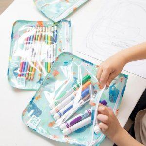 BUMKINS pack 3 bolsas transparentes para niños Ocean