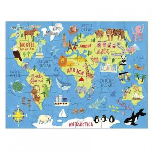 MUDPUPPY puzzle to go map of the world
