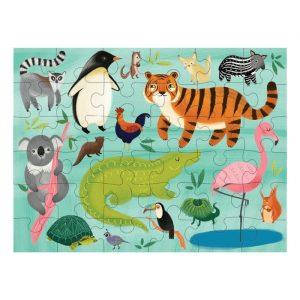 MUDPUPPY puzzle to go animals of the world