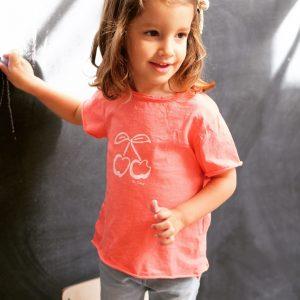 BI SUIT camiseta manga corta Cerezas Coral