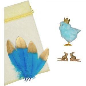 SUIT BEIBI pack pollito purpurina azul