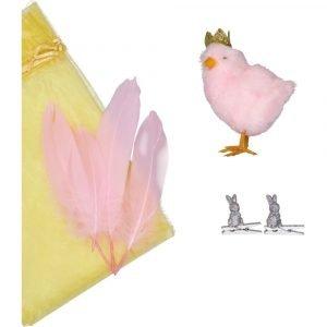 SUIT BEIBI pack pollito purpurina rosa