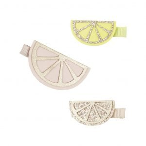 MIMI AND LULA clips para niñas citrus slice